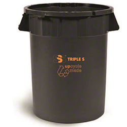 SSS® EarthCare® PCR Utility Can - 32 Gal., Black