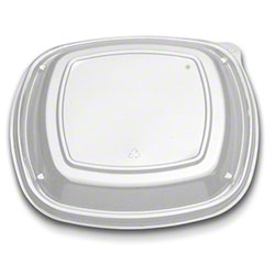"""D & W Fine Pack™ Forum® Square Low Dome Vented Lid - 9"""""""