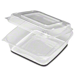 """D & W Fine Pack™ Large Hinged Deep Container - 9"""" x 9"""""""