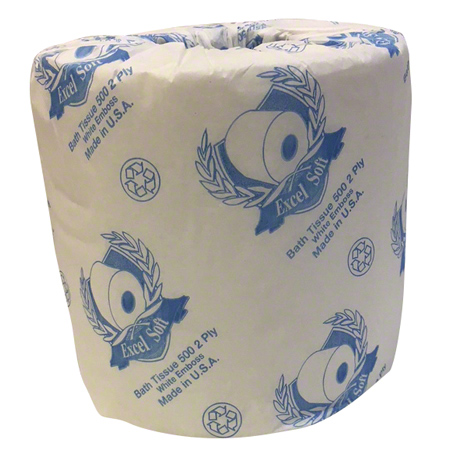 "EX500 2-Ply Bath Tissue Roll - 4.2"" x 3.4"""