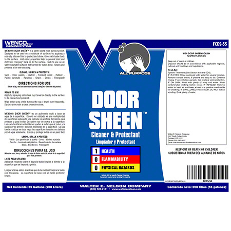 Wenco Door Sheen™ Clear & Protectant - 55 Gal. Drum