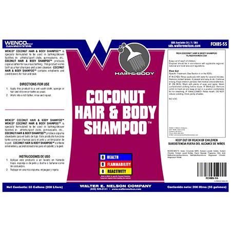Wenco Coconut™ Hair & Body - 55 Gal. Drum