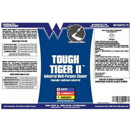 Wenco Tough Tiger II Industrial Multipurpose Cleaner -55 Gal