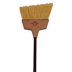 Zephyr® Big-Qik™ Angle Broom - Tan w/Brown Handle