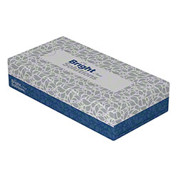 BSL Classic Flat Box 2-Ply Facial Tissue - 100 ct. Box