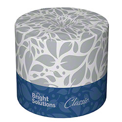 Bright Solutions® Classic 2 Ply White Toilet Paper