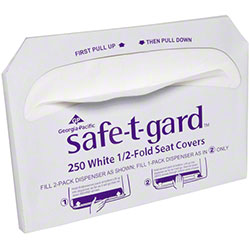 GP Pro™ Safe-T-Gard™ 1/2 Fold Toilet Seat Cover-250 ct