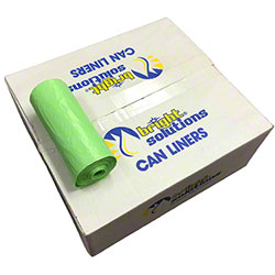 Bright Solutions® Green Biodegradable Can Liners