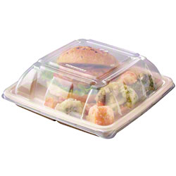 Sabert® Clear Lid For 32/48 oz. Square Takeout Container
