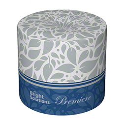 Bright Solutions® Premiere 2 Ply White Toilet Paper