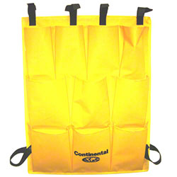 Continental 10 Pocket Vinyl Caddy Bag - Yellow