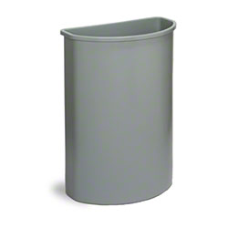 Continental Half Round Wall Hugger™ Container - Grey