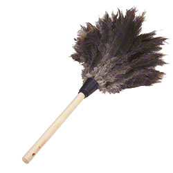 "Lambskin Ostrich Chick Feather Duster - 23"" Overall, Dowel"
