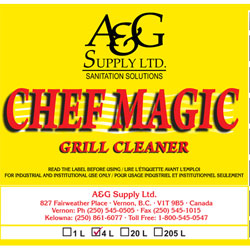 A & G Supply Chef Magic Grill Cleaner - 4 L