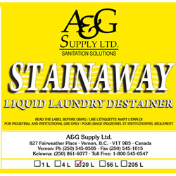 A & G Supply Stain Away Liquid Laundry Destainer - 20 L