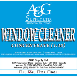 A & G Supply Window Cleaner Concentrate - 4 L