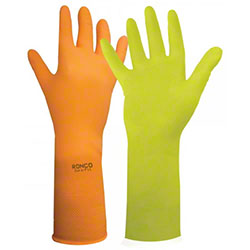 RONCO Dura-Fit™ Latex Reusable Flocklined Glove-Large (9)
