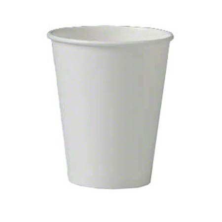 Solo® Single Poly White Paper Hot Cup - 8 oz.