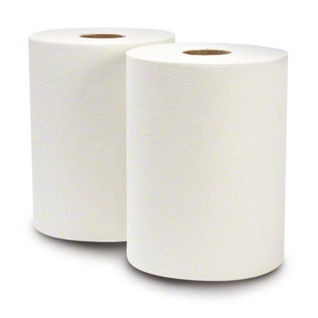 """WausauPaper® EcoSoft™ Roll Towel - 7.5"""" x 630', White"""