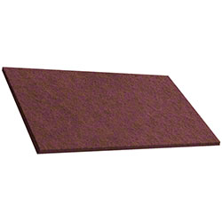 "ETC Redwood Floor Machine Pad - 14"" x 20"", Rectangle"