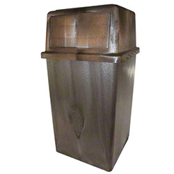 Impact® Vanguard Indoor/Outdoor Receptacle -45 Gal., Brown