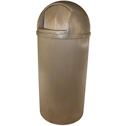 Impact® Beige Bullet Plastic Indoor/Outdoor Receptacle