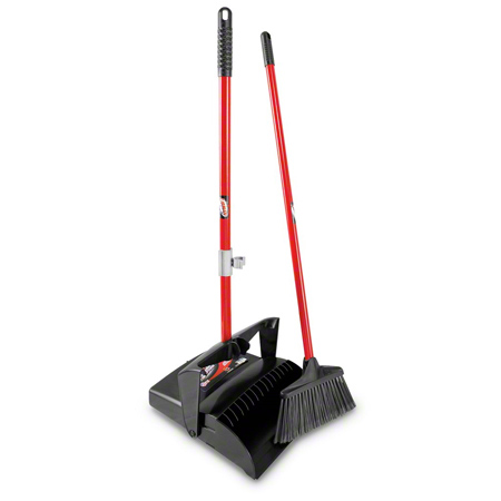 Libman® Lobby Broom & Open Lid Dust Pan