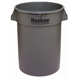 Continental Round Huskee w/o Lid - 32 Gal., Grey
