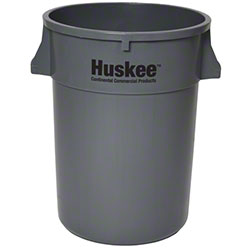 Continental Round Huskee w/o lid - 44 Gal., Grey