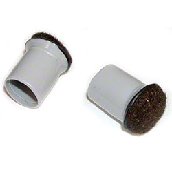 Expanded Technologies Grey Sleeve Chair Tip w/Felt - 1""