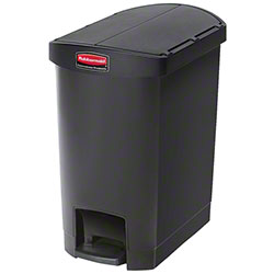 Rubbermaid® Slim Jim® Step-On Resin End - 8 Gal., Black