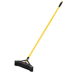 "Rubbermaid® Maximizer™ Push-To-Center Broom - 18"", Fine"