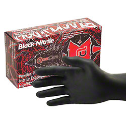 AmerCare® Black Widow™ Nitrile Exam Glove - Large
