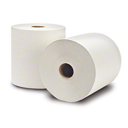 "WausauPaper® EcoSoft™ Roll Towel-8""x800',Natural White"
