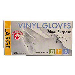 Natural Powder-Free Vinyl Glove - Large