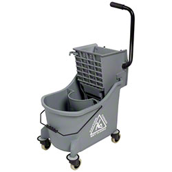Intelligent Microfiber Divided Bucket w/Side Press Wringer
