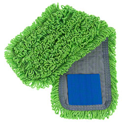 "Intelligent Microfiber 18"" Green Tab Mop"