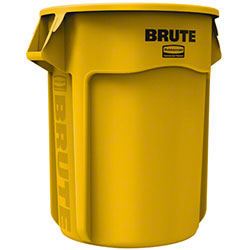 Rubbermaid® BRUTE® Round Container - 55 Gal., Yellow