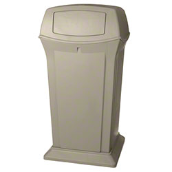 Rubbermaid® Ranger® 2 Door Waste Container-65 Gal.,Beige