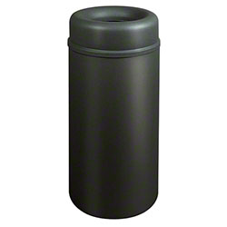 Rubbermaid® Crowne Open Top - 15 Gal., Textured Black