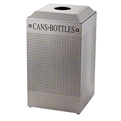 Rubbermaid® Silhouette Recycling Square - Cans/Bottles, SM