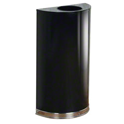 Rubbermaid® Half Round Waste Container - 12 Gal., Black