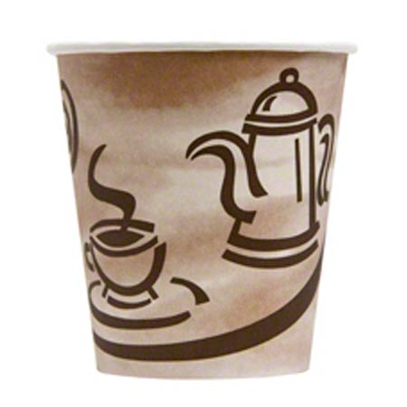 Empress™ Wrapped Paper Hot Cup - 10 oz., Print