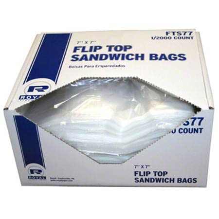 Royal Flip Top Sandwich Bag - 7 x 7