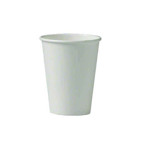 Solo® Single Poly White Paper Hot Cup - 12 oz.