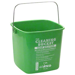 Winco® 3 Qt. Green Cleaning Bucket For Soap Solution