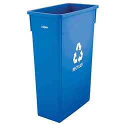 Winco® Slender Recycle Can - 23 Gal., Blue
