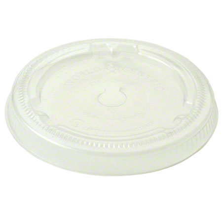 World Centric White Paper Cold Cup Lid For 12-22 oz.