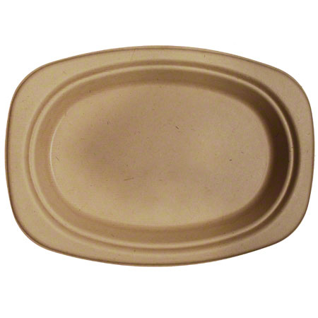 World Centric Bagasse/Wheatstraw Oval Plate - 9""