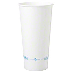 World Centric White Paper Cold Cup - 22 oz.